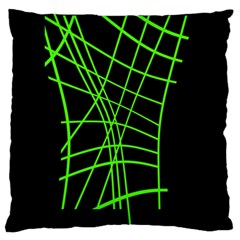 Green neon abstraction Standard Flano Cushion Case (Two Sides)