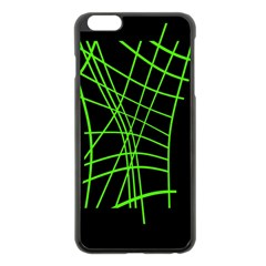 Green neon abstraction Apple iPhone 6 Plus/6S Plus Black Enamel Case