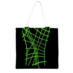 Green neon abstraction Grocery Light Tote Bag