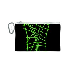 Green neon abstraction Canvas Cosmetic Bag (S)
