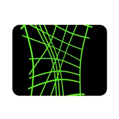 Green neon abstraction Double Sided Flano Blanket (Mini)