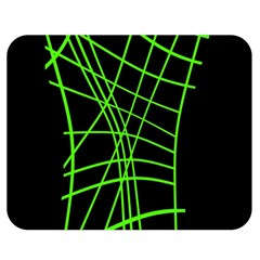 Green neon abstraction Double Sided Flano Blanket (Medium)