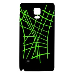 Green neon abstraction Galaxy Note 4 Back Case