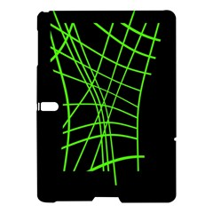Green neon abstraction Samsung Galaxy Tab S (10.5 ) Hardshell Case