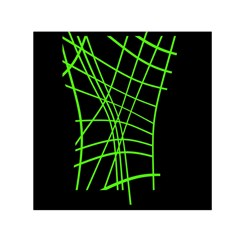 Green neon abstraction Small Satin Scarf (Square)
