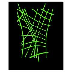 Green neon abstraction Drawstring Bag (Small)