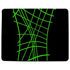 Green Neon Abstraction Jigsaw Puzzle Photo Stand (rectangular)