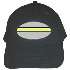 Yellow and gray lines Black Cap
