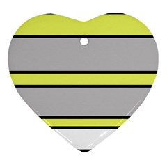 Yellow and gray lines Ornament (Heart)