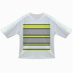 Yellow and gray lines Infant/Toddler T-Shirts