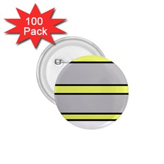 Yellow and gray lines 1.75  Buttons (100 pack)