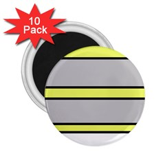 Yellow and gray lines 2.25  Magnets (10 pack)