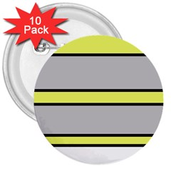 Yellow and gray lines 3  Buttons (10 pack)