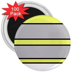 Yellow and gray lines 3  Magnets (100 pack)