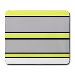 Yellow and gray lines Large Mousepads
