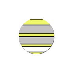 Yellow and gray lines Golf Ball Marker