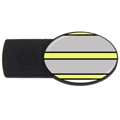 Yellow and gray lines USB Flash Drive Oval (2 GB)