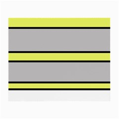Yellow and gray lines Small Glasses Cloth