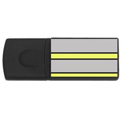 Yellow and gray lines USB Flash Drive Rectangular (4 GB)