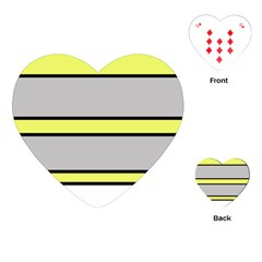 Yellow and gray lines Playing Cards (Heart)
