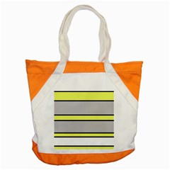 Yellow and gray lines Accent Tote Bag