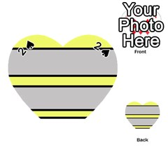 Yellow and gray lines Playing Cards 54 (Heart)