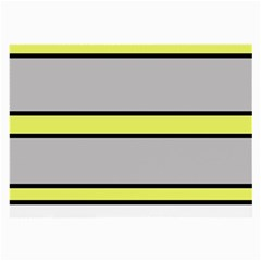 Yellow and gray lines Large Glasses Cloth