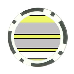 Yellow and gray lines Poker Chip Card Guards