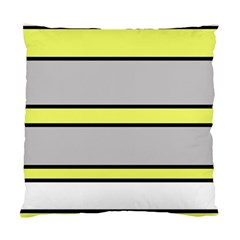 Yellow and gray lines Standard Cushion Case (Two Sides)