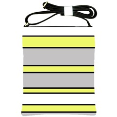 Yellow and gray lines Shoulder Sling Bags
