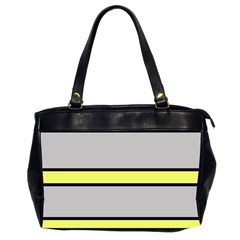 Yellow and gray lines Office Handbags (2 Sides)