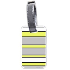 Yellow and gray lines Luggage Tags (One Side)