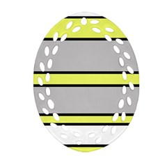 Yellow and gray lines Ornament (Oval Filigree)