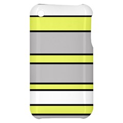 Yellow and gray lines Apple iPhone 3G/3GS Hardshell Case