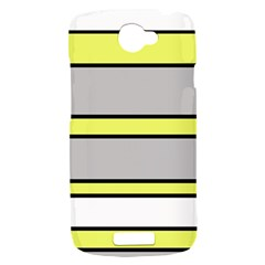 Yellow and gray lines HTC One S Hardshell Case