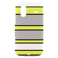 Yellow and gray lines HTC Amaze 4G Hardshell Case