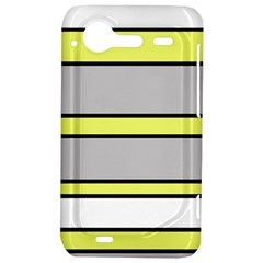 Yellow and gray lines HTC Incredible S Hardshell Case