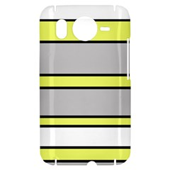Yellow and gray lines HTC Desire HD Hardshell Case
