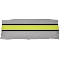 Yellow and gray lines Body Pillow Case (Dakimakura)