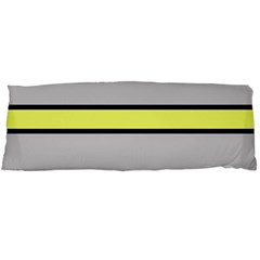 Yellow and gray lines Body Pillow Case Dakimakura (Two Sides)