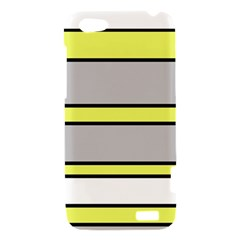Yellow and gray lines HTC One V Hardshell Case