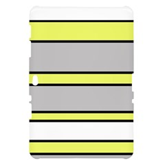 Yellow and gray lines Samsung Galaxy Tab 10.1  P7500 Hardshell Case