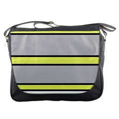 Yellow and gray lines Messenger Bags