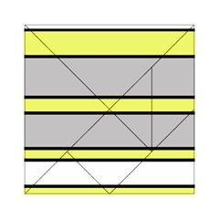 Yellow and gray lines Acrylic Tangram Puzzle (6  x 6 )