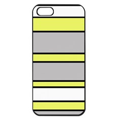 Yellow and gray lines Apple iPhone 5 Seamless Case (Black)