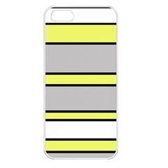Yellow and gray lines Apple iPhone 5 Seamless Case (White)
