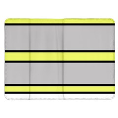 Yellow and gray lines Kindle Fire (1st Gen) Flip Case