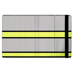 Yellow and gray lines Apple iPad 2 Flip Case