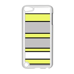 Yellow and gray lines Apple iPod Touch 5 Case (White)