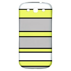 Yellow and gray lines Samsung Galaxy S3 S III Classic Hardshell Back Case